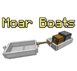 Moar Boats - улучшенные лодки [1.16.4] [1.15.2] [1.14.4] [1.13.2] [1.12.2]