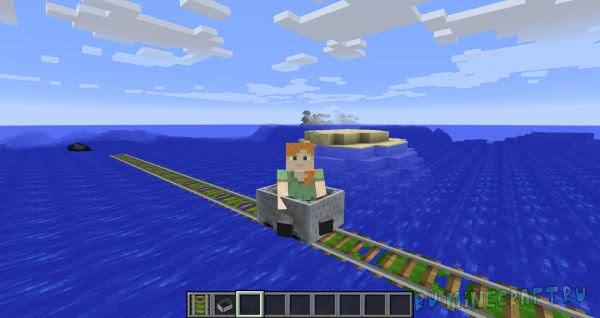 Floating Rails - плавающие рельсы [1.12.2] [1.7.10]