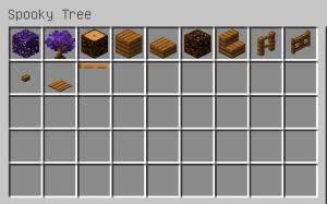 Pam's Spooky Tree - фиолетовое дерево [1.12.2]