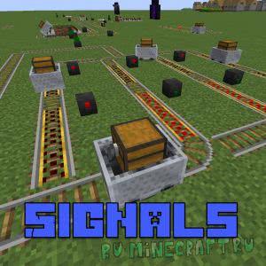 Signals mod - сигнальная система вагонеток [1.12.2] [1.10.2] [1.9.4]