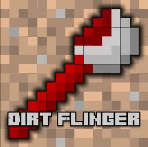 Dirt Flinger - кидай блоки земли [1.11.2] [1.10.2]