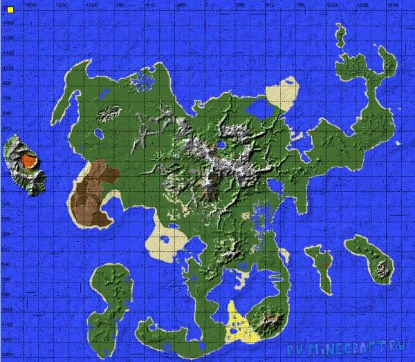 Biggest island - Карта для выживания [1.12.2-1.7.10]