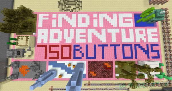 Finding adventure - 750 buttons - огромная карта найти кнопку [1.12.2]