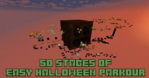 50 Stages of Easy Halloween Parkour Map - паркур карта в стиле Хеллоуина [1.12.2]