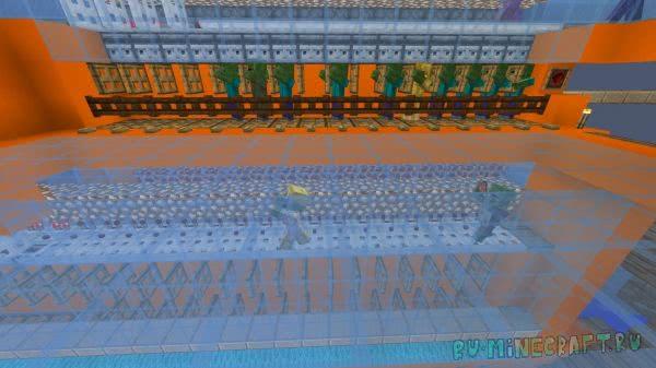 Торговый Зал Зомби Жителей - ферма на искусственном интеллекте без модов [1.12.2-1.11]