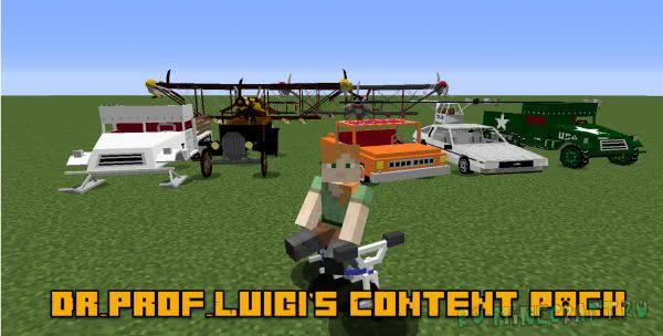 Dr_prof_Luigi's Content Pack - контент пак с транспортом [1.12.2] [1.8] [1.7.10]