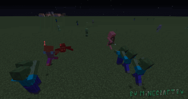 Attacking zombies [1.12.2]