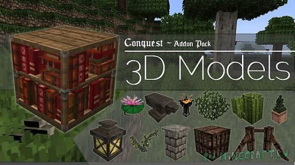 3D Models Conquest Resource - аддон [1.12.2] [1.8.9] [1.7.10] [32px]