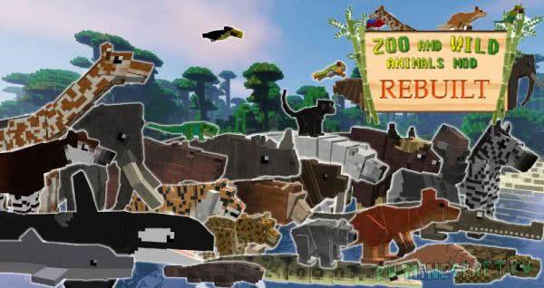 Zoo & Wild Animals Mod Rebuilt - животные, сафари [1.12.2] [1.8]