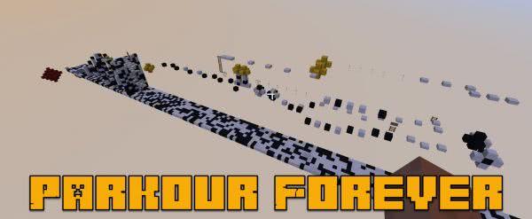 Паркур карта Parkour Forever - от простого к сложному [1.12.2]