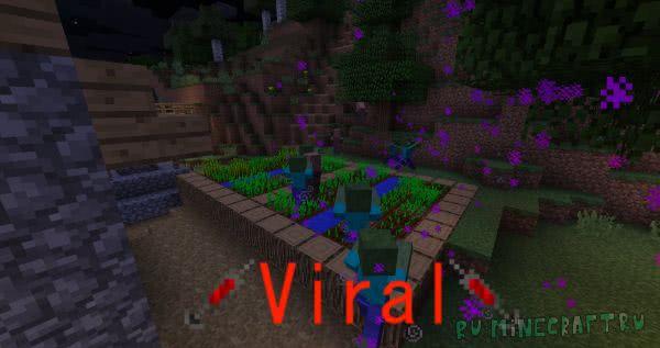 Viral - вирусы, болезнь [1.12.2] [1.11.2] [1.10.2]