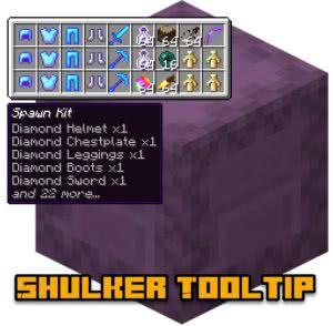Shulker Tooltip - содержимое ящика шалкера [1.12.2]