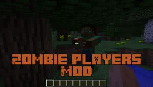 Zombie Players Mod - мертвый игрок зомби [1.12.2]