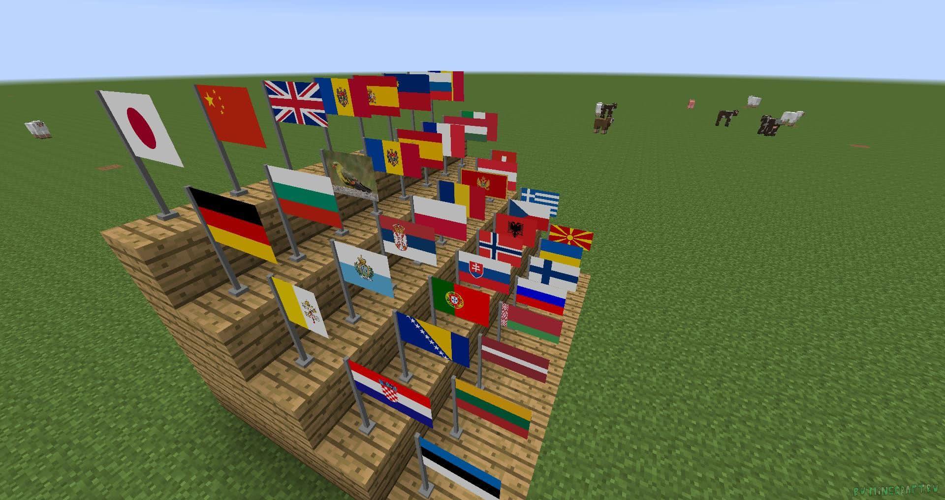 мод на флаги в майнкрафт 1.6.4