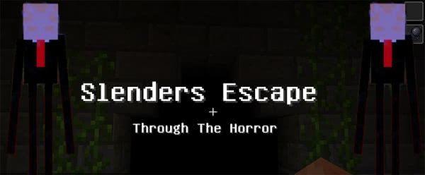 Хоррор карта Slender Escape - Слендер идет за вами [1.12.2]