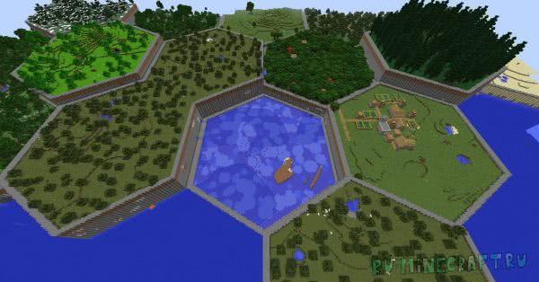 Hex Lands - генерация шестиугольниками [1.12.2]