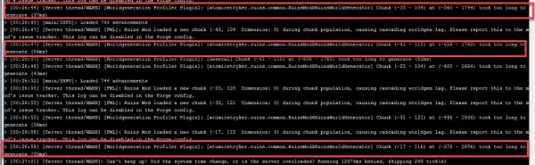 Worldgeneration Profiler - поиск причины долгой генерации чанка [1.16.5] [1.15.2] [1.12.2] [1.11.2] [1.10.2] [1.8.9]