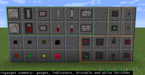 Redstone Gauges and Switches - приборы [1.16.3] [1.15.2] [1.14.4] [1.12.2]