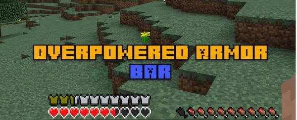 Overpowered (Overloaded) Armor Bar - исправление индикатора брони [1.16.3] [1.15.2] [1.14.4] [1.12.2]