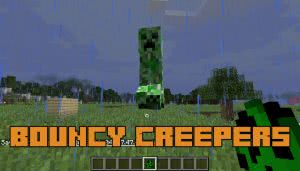 Bouncy Creepers - прыгающие криперы [1.12.2]