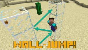 Wall-Jump - прыжки от стены, мод на паркур [1.12.2]