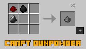 Craft gunpowder - мод крафт пороха [1.12.2]