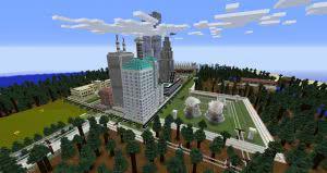Карта Megapolis - крупный город в ванильном стиле [1.12.2]