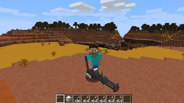 Пулемет гатлинга, миниган - крутое мощное оружие [1.13.2] [1.13] [Датапак]