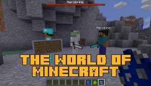 The World of Minecraft - мобы Стив, Алекс, Хиробрин [1.12.2]