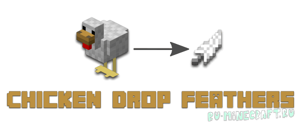 Chicken Drop Feathers [1.12.2]