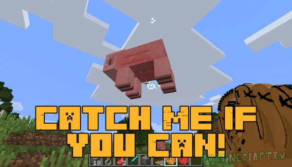 Catch Me If You Can - перчатки ловли мобов [1.16.1] [1.15.2] [1.12.2] [1.11.2] [1.10.2]
