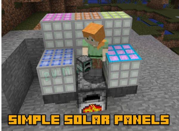 Simple Solar Panels - простые солнечные панели [1.12.2] [1.7.10]