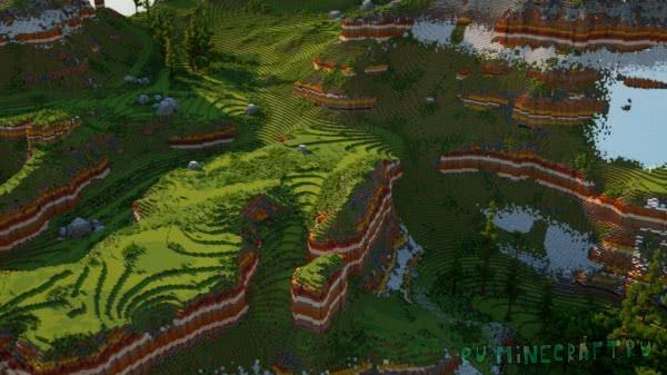 2500x2500, multi Biome map - уникальная карта для выживания! [1.13.X] [1.12.X]
