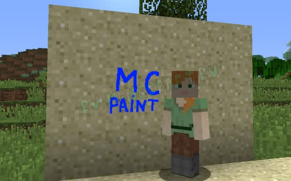 MC Paint - рисунки на блоках [1.16.5] [1.15.2] [1.14.4] [1.12.2]