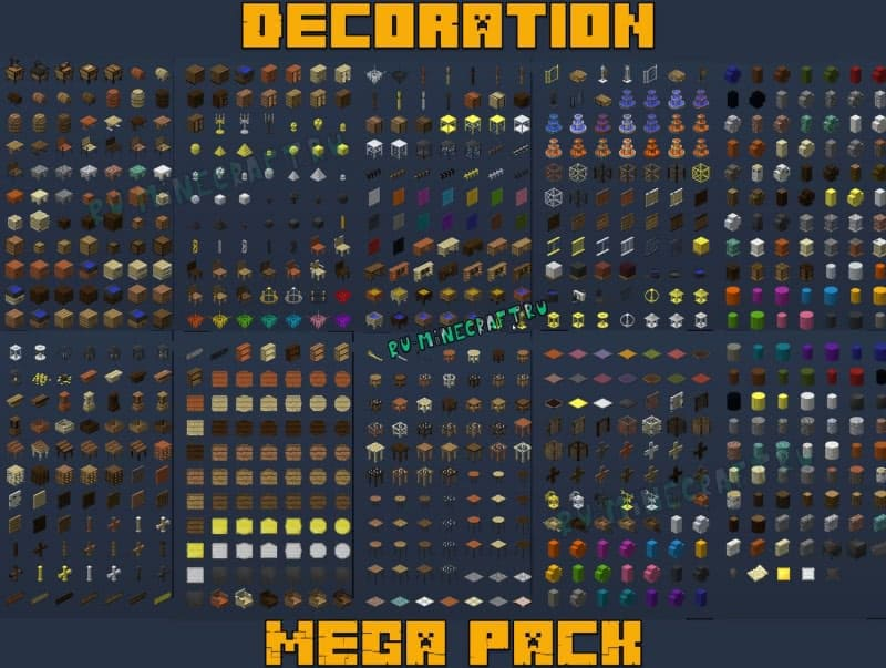 Decoration Mega Pack - декор, мебель, украшения, вещи [1.12.2] [1.9.4] [1.8.9]
