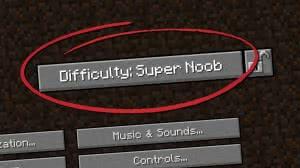 Noob Difficulty - более легкий майнкрафт, сложность для нубов  [1.12.2]