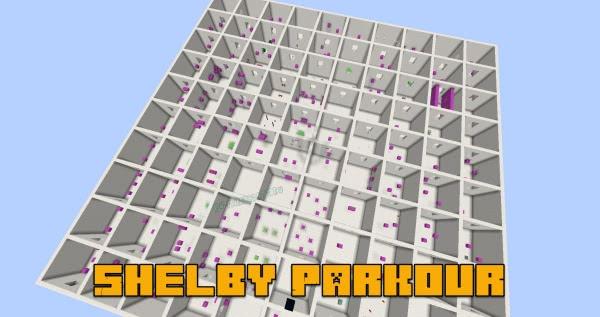 Shelby Parkour - паркур карта на 100 мини уровней [1.13.1]