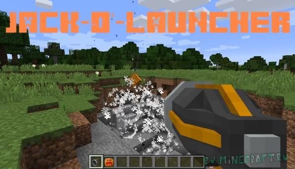 Jack-O'-Launcher - тыквенная пушка [1.14.4] [1.13.2] [1.12.2]