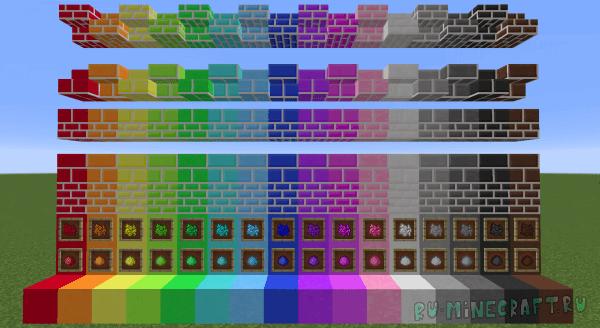 Maiden's Marvelous Materials - много новых декоративных блоков [1.12.2] [1.12]