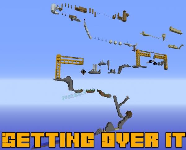 Getting Over It - трудная паркур карта [1.12.2]