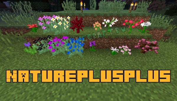 NaturePlusPlus - новые цветы и деревья [1.12.2]