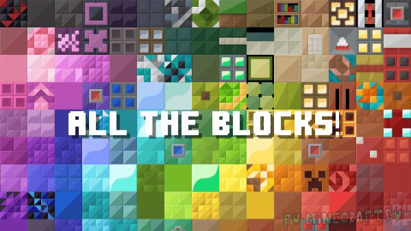 Blocku Recast - мультяшный яркий ресурспак [1.13.2] [1.13] [128x128]
