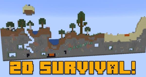 2D Survival - плоская карта на выживание [1.13.2]