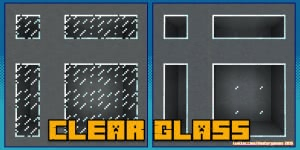 Clear Glass with Connected Textures - прозрачное стекло и лед [1.16] [1.15.2] [1.14.4] [1.12.2] [1.7.10] [16x]
