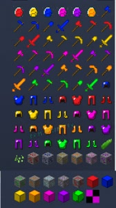 More Realistic Mod - разноцветная броня, меч и инструмент [1.12.2] [1.10.2]