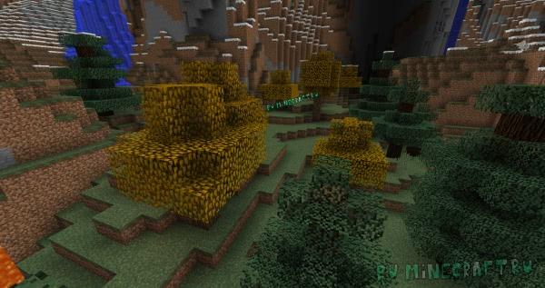 The Falling Brick - текстуры осенних деревьев [1.13.2]