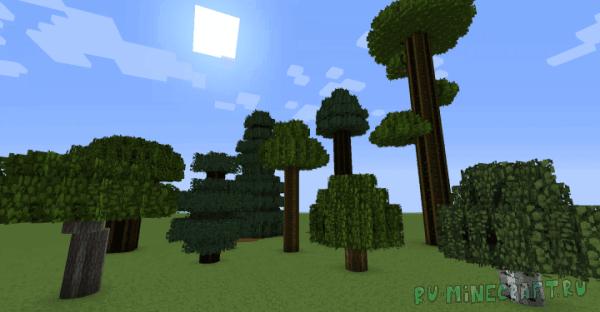 Zooning's Foliage Pack - новая листва и кусты [1.13.2] [1.12.2] [16x16]