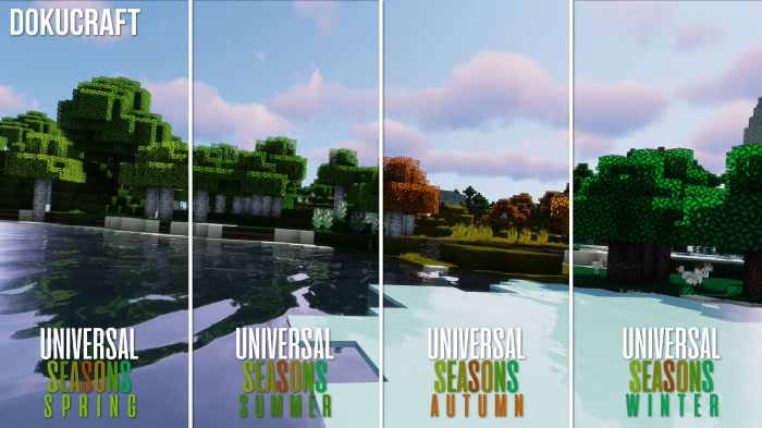 Universal Seasons - текстуры сезонов года [1.13.2] [1.12.2-1.8]