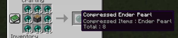 Not Enough Compression - сжатие предметов/вещей [1.12.2]