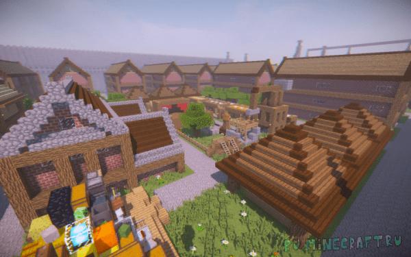 Capital Of The Helix Empire - средневековый небольшой город [1.13.2]